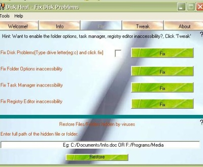 Disk Heal Screenshot