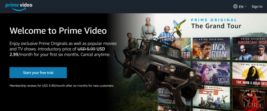Amazon Prim video