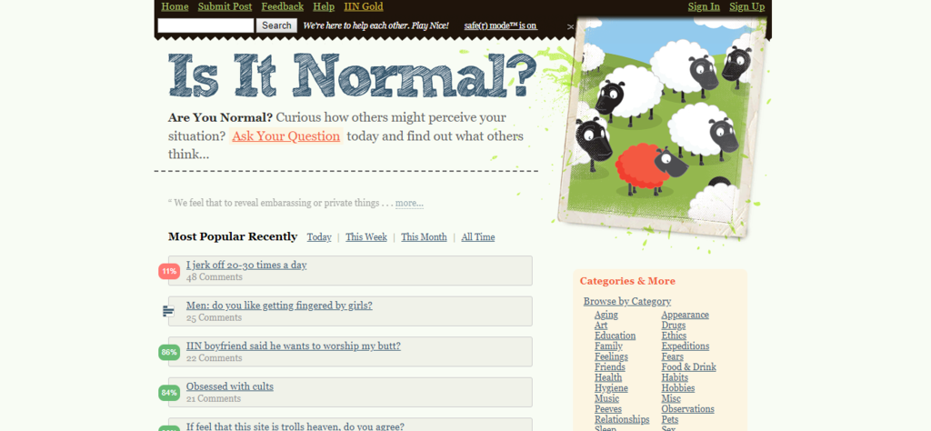 Isitnormal.com