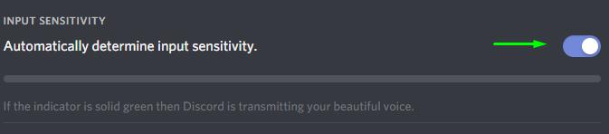 automatic input sensitivity