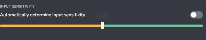 disable automatic input sensitivity